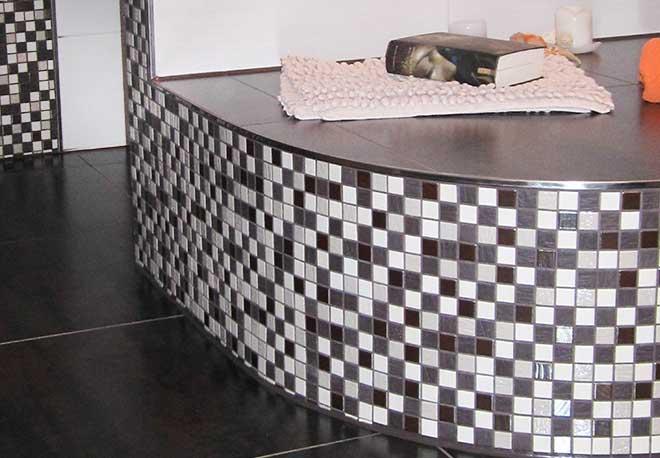 Verlegung Mosaikfliesen